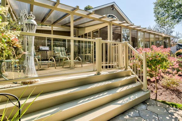 steps sunroom