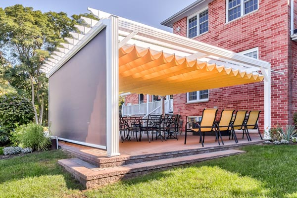 Aluminum canopy screen side view